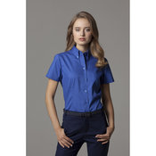 Women's corporate Oxford blouse short-sleeved (tailored fit)