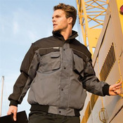 Work-Guard zip sleeve heavy-duty pilot jacket