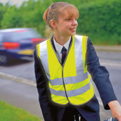 Junior safety high-viz vest